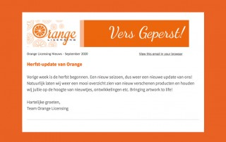 Herfst update 2020 Orange Licensing
