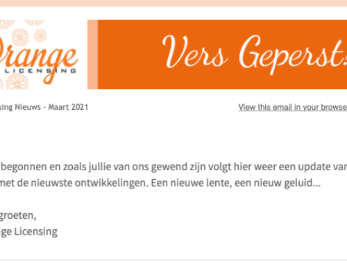 Lente-update van Orange